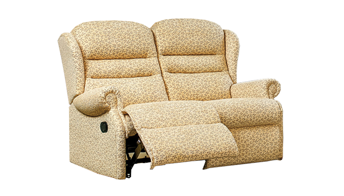 Small 2 Seater Manual Recliner Sofa