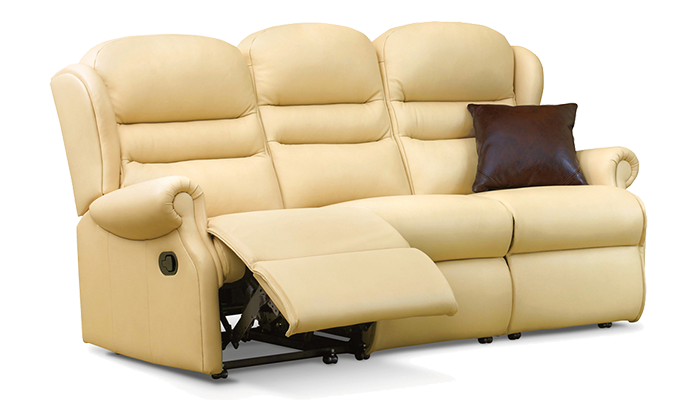 Small 3 Seater Manual Recliner