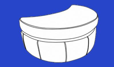 Half-Moon Footstool