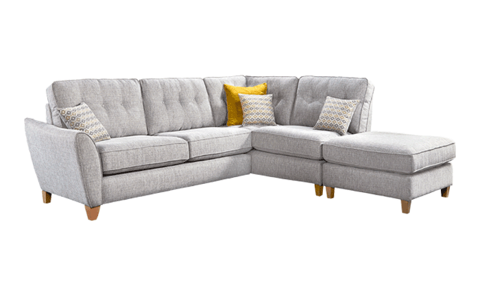 Large Chaise With Pouffe