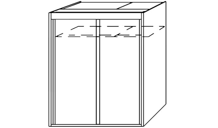 2 Door Slider 151cm wide