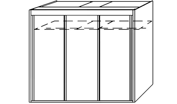 3 Door Slider 225cm wide