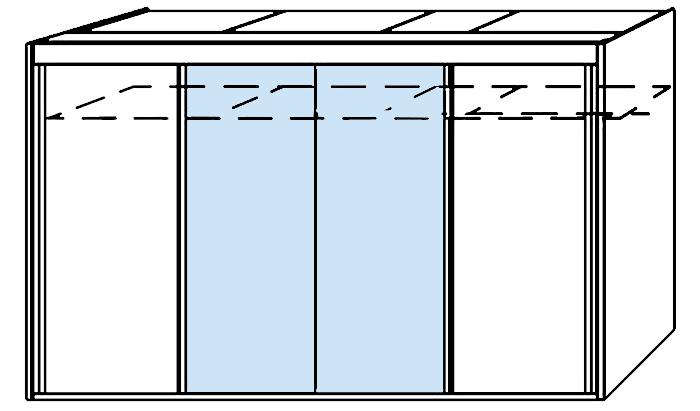 4 Door 2 Mirror Slider 350cm Wide