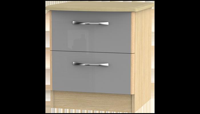 2 Drawer Bedside Locker
