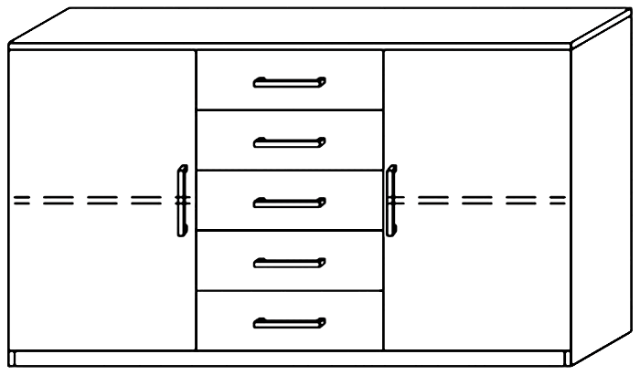 Large Combination Chest