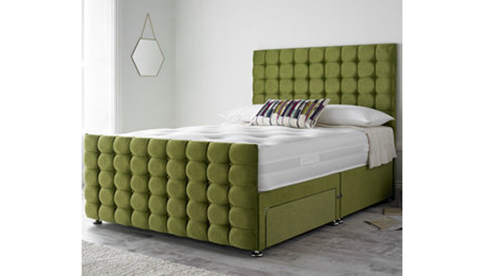 Double 2 Drawer Bed+Memory Foam Mattress