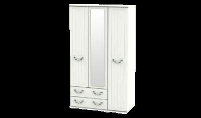3 Door 2 Left Drawers Tall Wardrobe