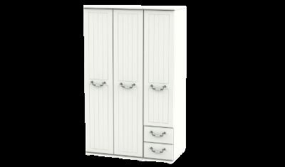 3 Door 2 Right Drawers Tall Combi Wardrobe