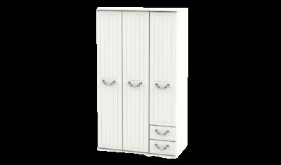 3 Door 2 Right Drawers Tall Wardrobe