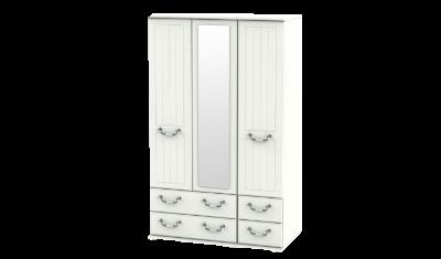 3 Door 4 Drawer Combi Wardrobe
