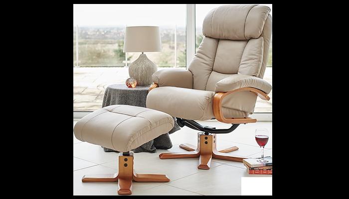 Swivel Chair & Footstool
