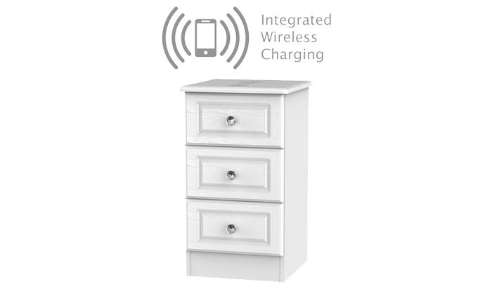 3 drawer Locker with Wireless Charg
