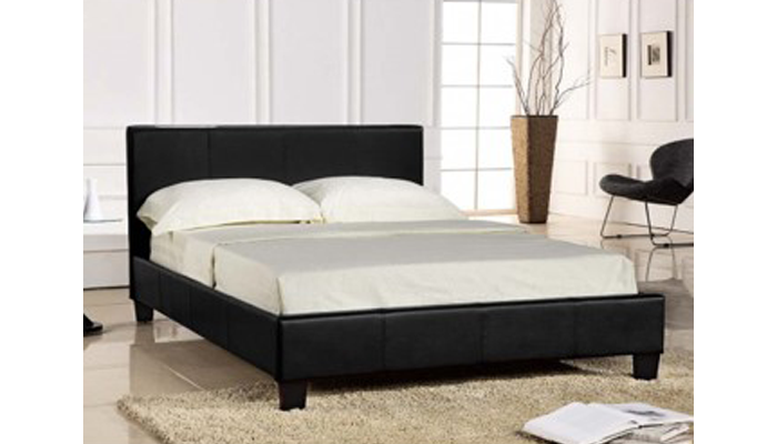 5ft Leather Bed