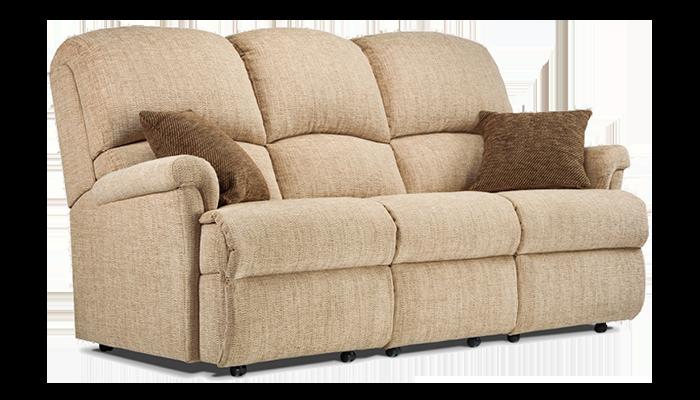 Small 3 Seater Fixed Sofa