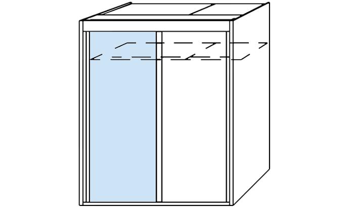 2 Door Slider 1 Mirror 151cm wide